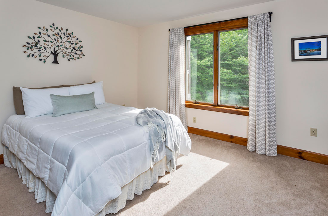 Large master bedroom at The Ridges apartments