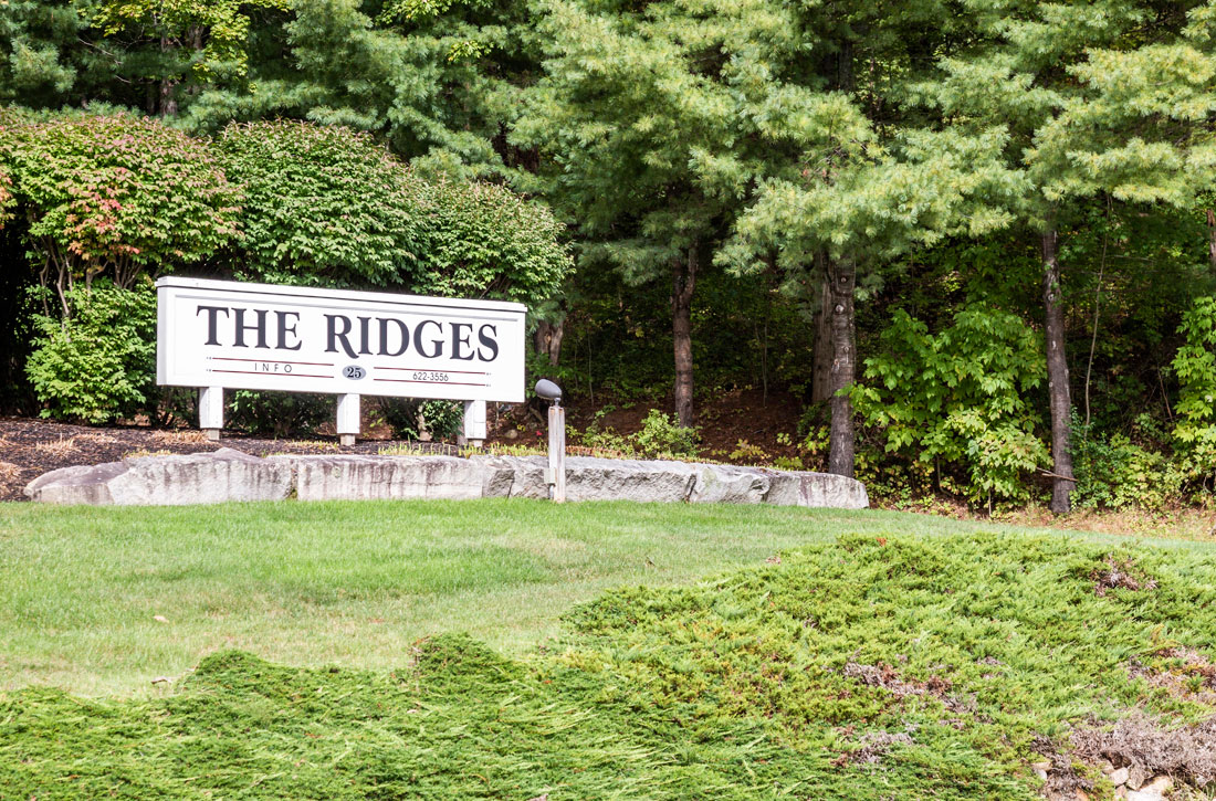 Peaceful and serene setting at the Ridges